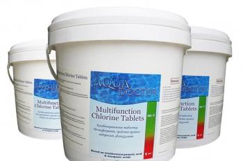 Химия для Бассейнов Aqua Doctor МС-Т хлорные таблетки 200 гр (5кг)