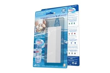 AQUAFILTER FXT-AQ. Цвет тест на 5 параметров воды: по два теста для каждого (pH, щелочность, жесткость, железо)