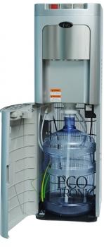 Ecotronic C8-LX-silver напольный кулер, компрессорное охлаждение с нижней загрузкой бутыля