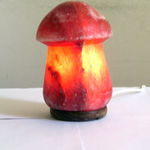 """Соляная лампа """"Гриб малый""""  на деревянной подставке SLMU-41S"""