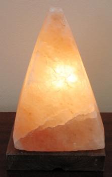 Соляная лампа  на деревянной подставке SLPR-43S