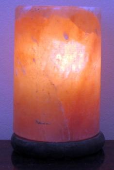 """Соляная лампа  """"Цилиндр"""" на деревянной подставке SLCN-24"""