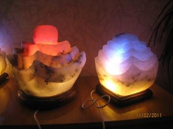 """Соляной светильник """"Пагода"""" 4-6 кг и Соляной светильник """"Пагода"""" 5-6 кг, Цветная лампа (зеленая, голубая,оранжевая)"""