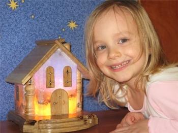 """Соляной светильник """"Домик"""" 5-6 кг, Цветная лампа (зеленая, голубая,оранжевая)"""